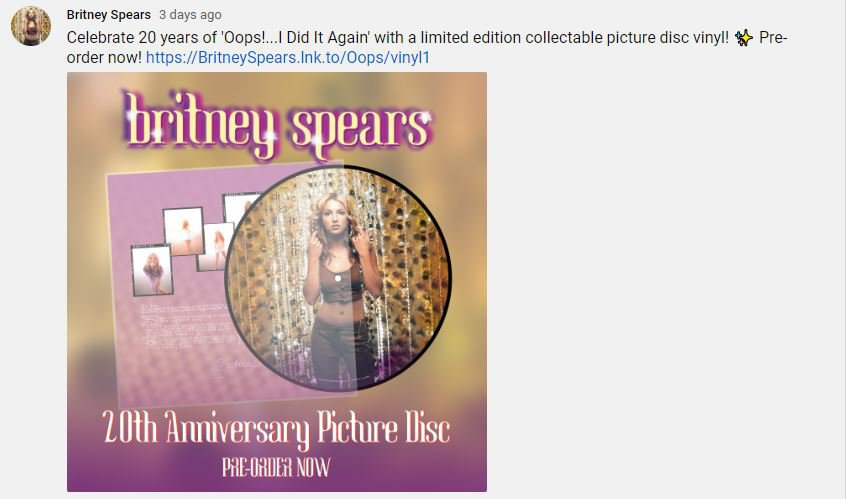 Britney Spears Marks Oops I Did It Again Anniversary With Vinyl Reissue