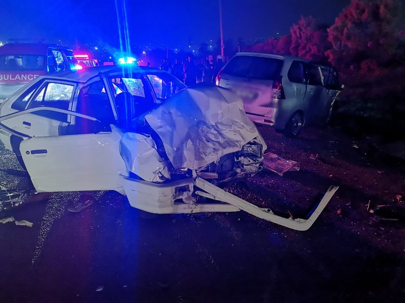 One killed, 5 injured in head-on crash