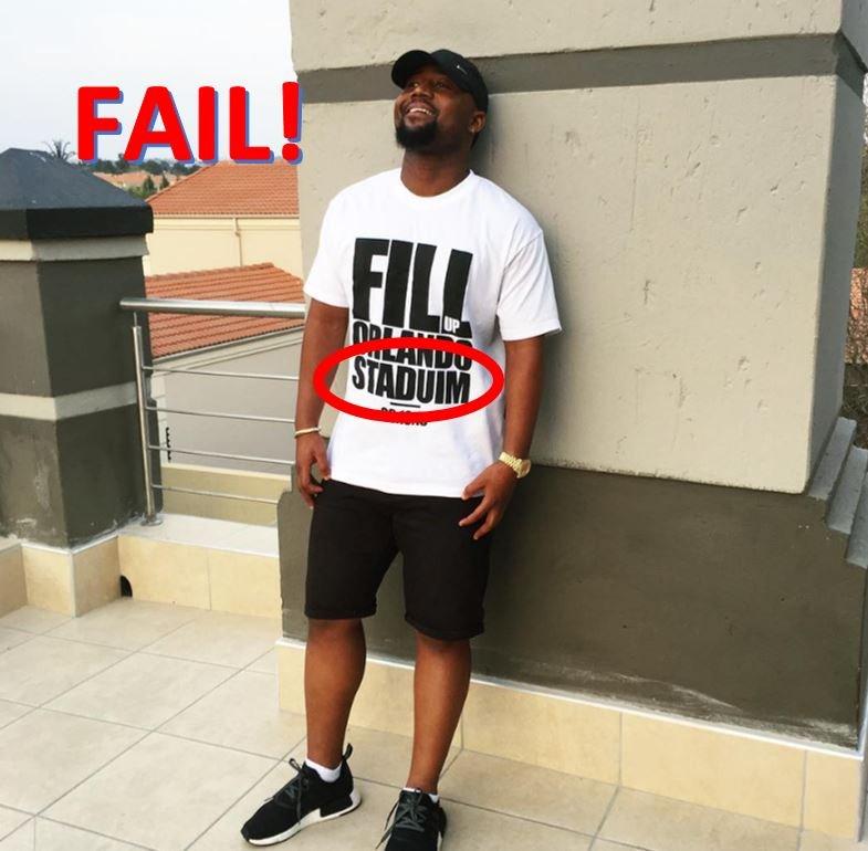 Cassper misspells his Fill Up Orlando Stadium T-shirts