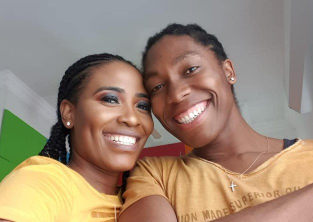 Caster Semenya and her wife Violet