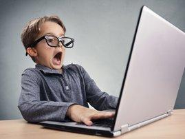 Child surfing the net