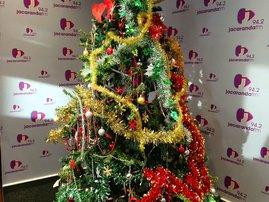 Christmas tree in studio take down