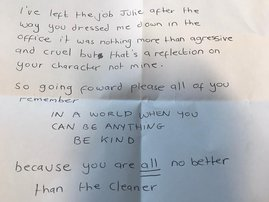 ATTENTION 'Horrible Bosses' - a letter that may change you!