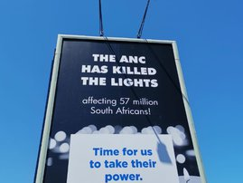 'The ANC has killed the lights' - DA unveils latest election billboard