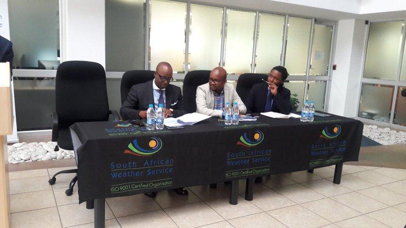 SAWS briefing in Johannesburg