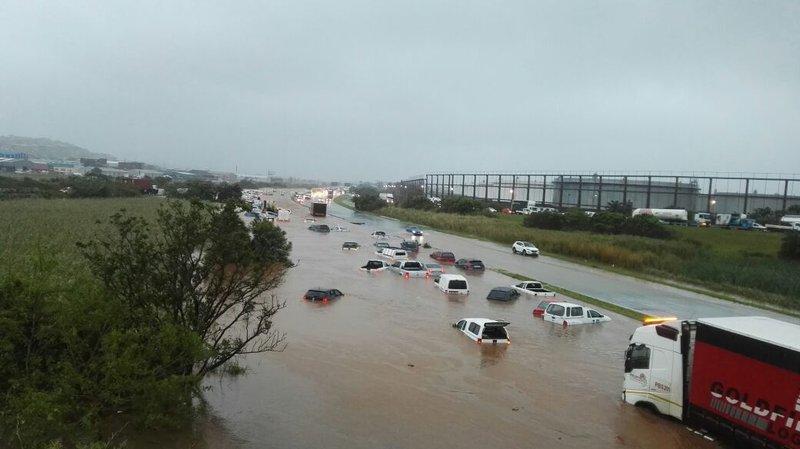 Durban storm - N2 near Toti flooded