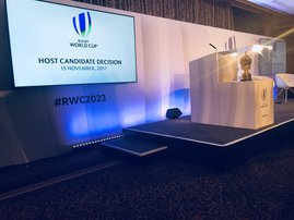 Announcement of Rugby World Cup hosts 2023