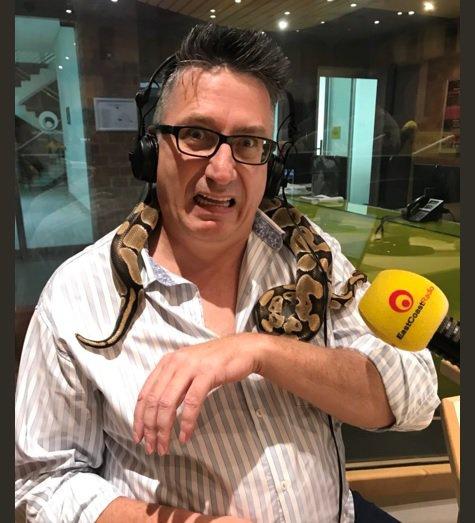 Darren with a python