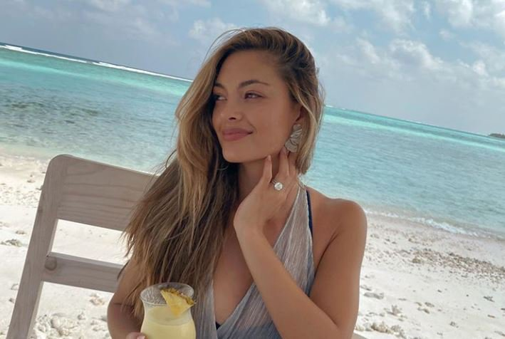 Demi-Leigh Nel-Peters in the Maldives