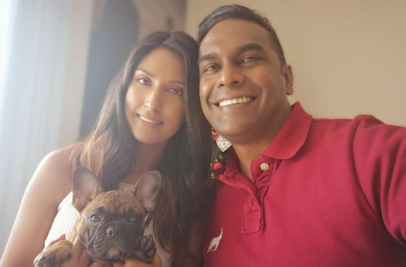 Deon Govender and his wife