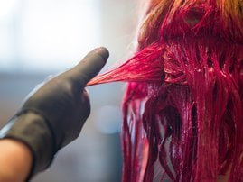 Person dying hair
