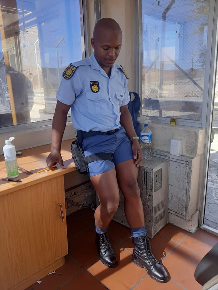 MUST SEE: Mzansi reacts to SAPS officer putting on a show in his tiny shorts