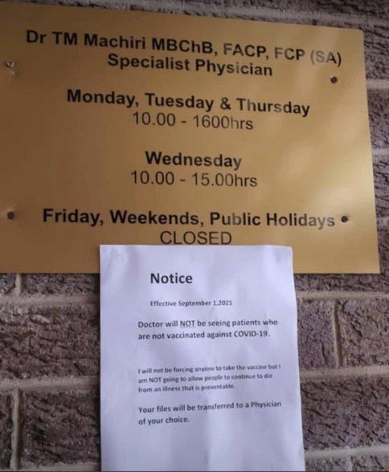 Photo of notice