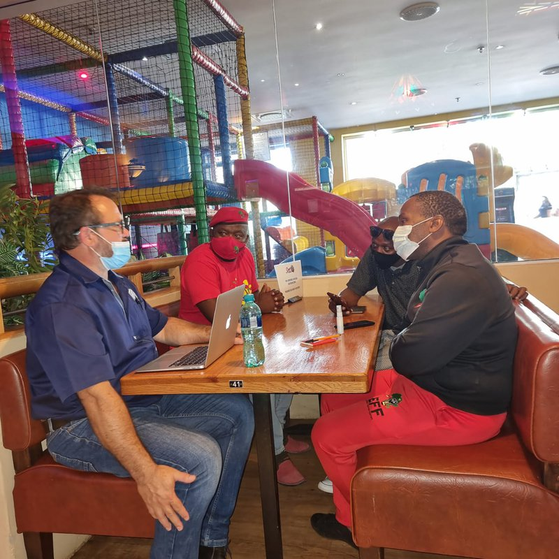 EFF East London leaders meet with Las Vegas Spur management