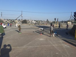 Cleaning Shallcross after KZN riots/looting