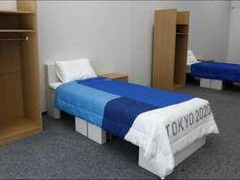 Paul Chelimo Tokyo beds