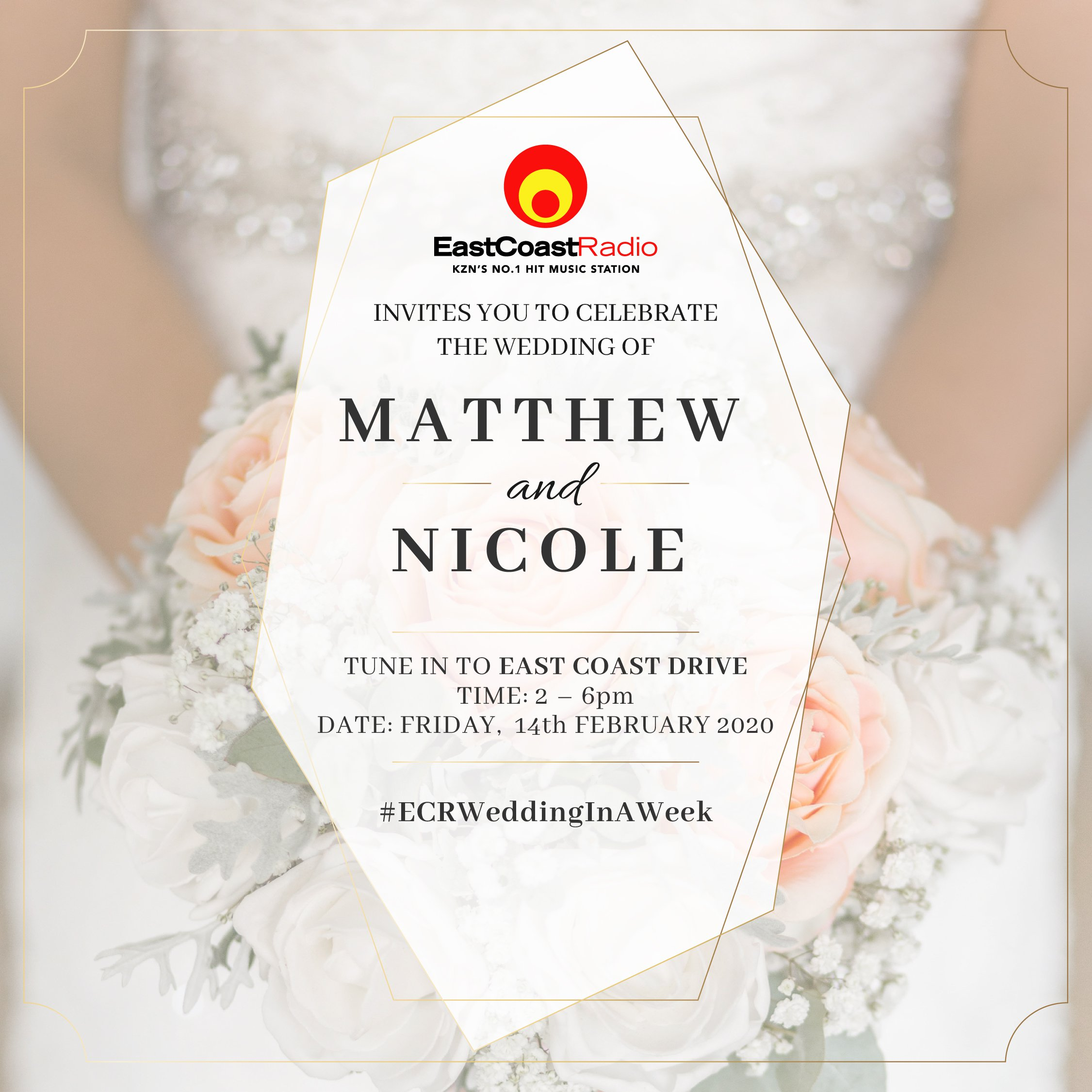 #ECRWeddingInAWeek wedding invitation