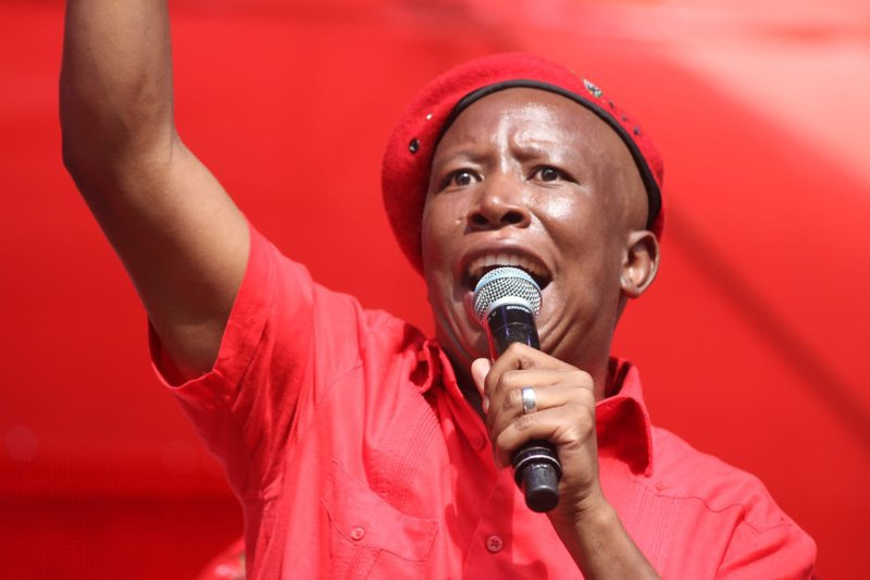 [WATCH] Malema does the 'vosho' ahead of swearing-in