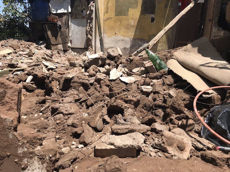 Home collapsed in Amaoti,