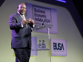 Business economic Indaba Cyril Ramaphosa
