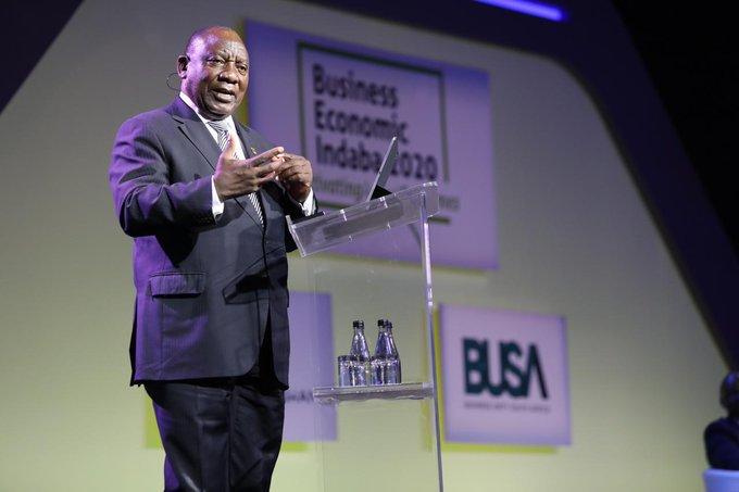 Business economic Indaba Cyril Ramaphosa