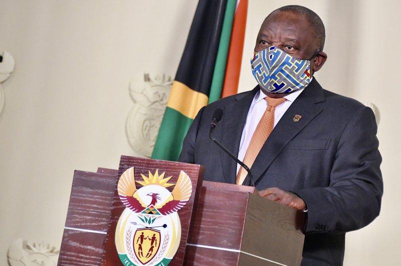 ramaphosa mask ban