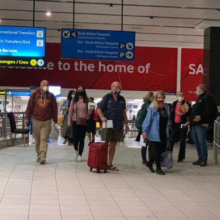 """SAA: """"Johannesburg with more than 130 passengers and SA2285 Bangkok - Johannesburg with more than 230 passengers landed last night 8 May 2020 at OR Tambo International. SAA is proud to be of service during this repatriation mission."""""""