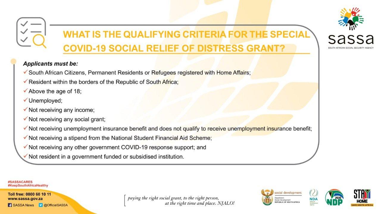 Covid-19 social relief grant