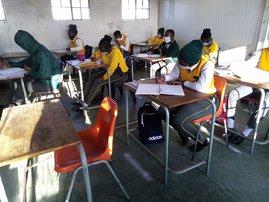 matric pupils in class schools reopening