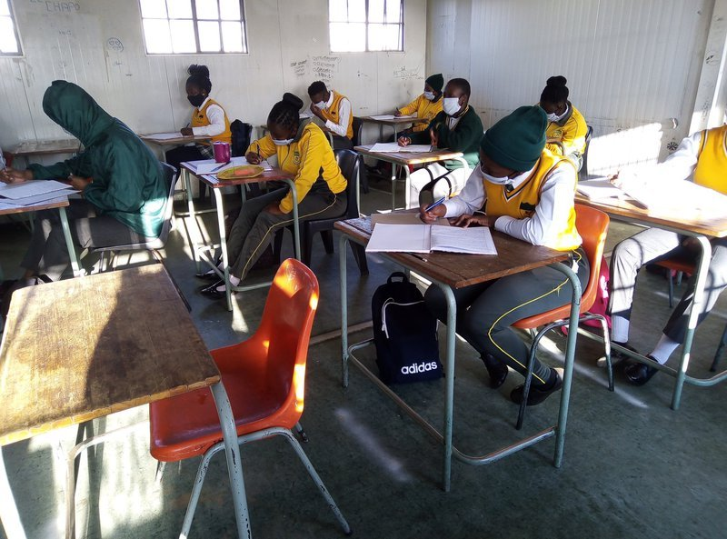 matric pupils in class schools reopening