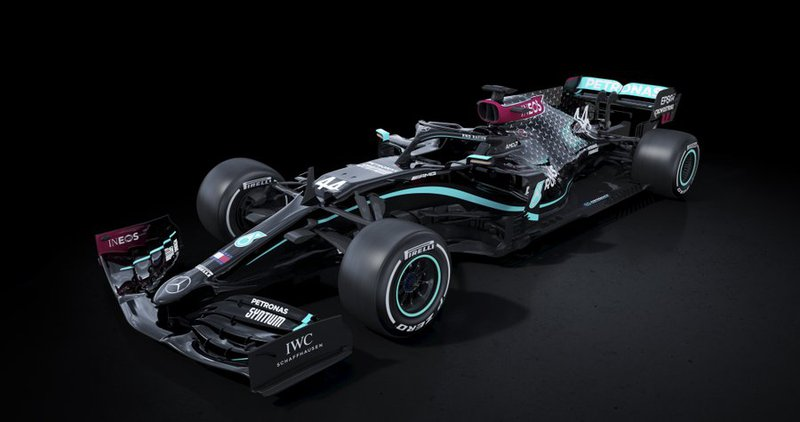 Mercedes go black in support of anti-racism movement F1 car