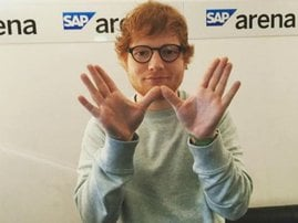 Ed Sheeran kicked off the number one spot