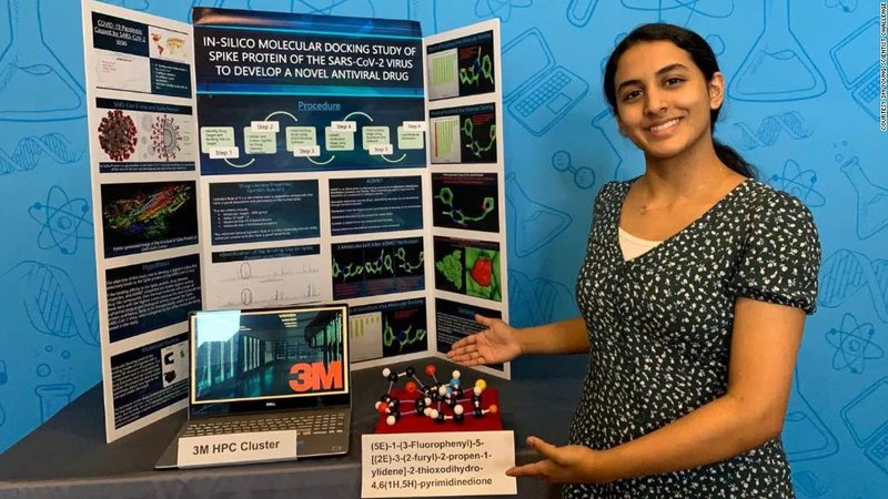 14-Year-Old Girl Wins $25K for Possible COVID-19 Cure Discovery