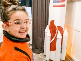 A 7-year old gets to send something to space