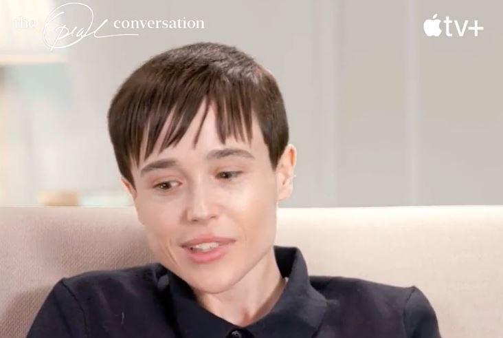 Elliot Page during 'The Oprah Conversation' interview