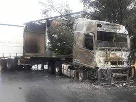 Alrode Trucks burned