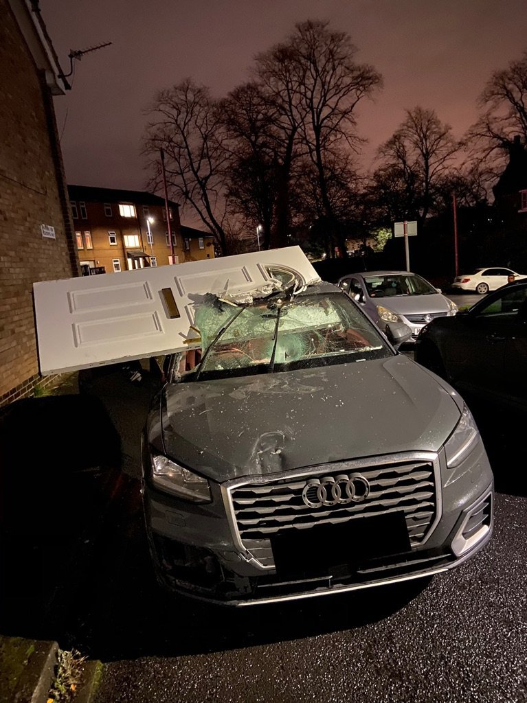 Car crash door