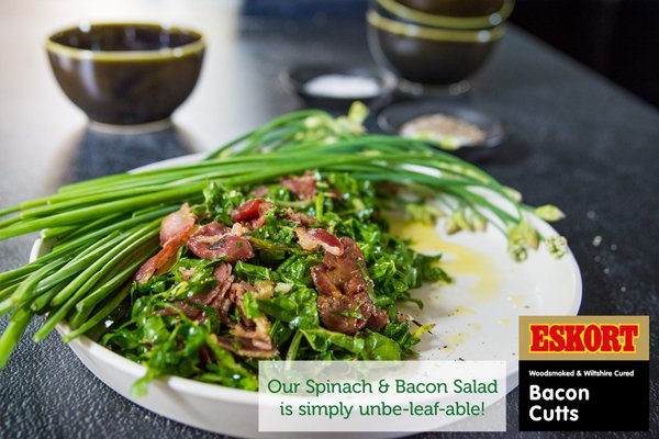 Zesty Spinach & Bacon Salad