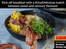 Topoi Buns with Pineapple Jam, Coconut & Red Chilli Scrambled Eggs & Crispy Bacon