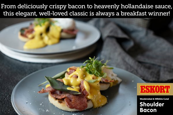 Eggs Benedict with Bacon & Sage