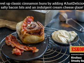 Bacon Cinnamon Buns with Cream Cheese & Vanilla Glaze