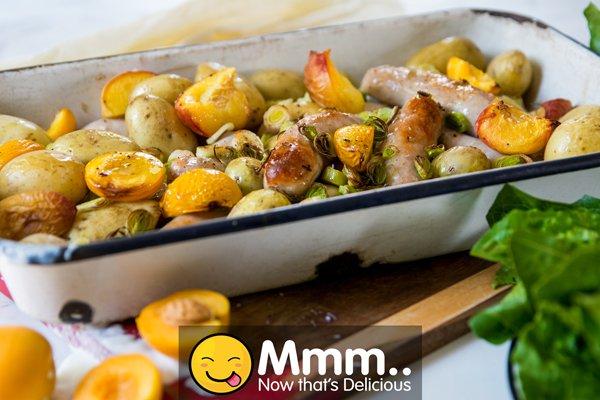 Eskort Pork Sausages and Baby Potato One Pan Party