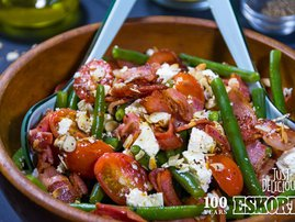 Green Beans with Bacon & Feta