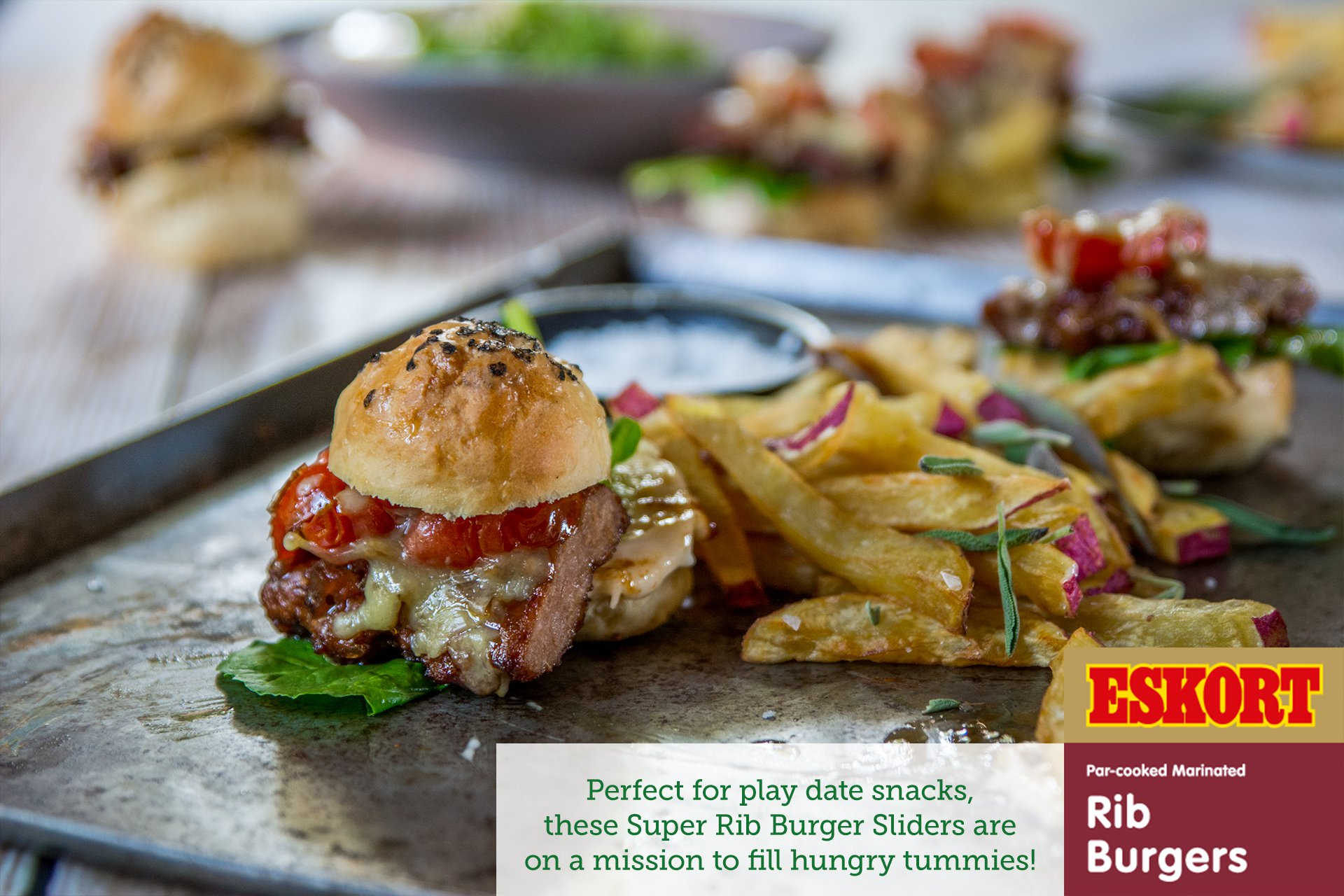 Super Rib Burger Sliders