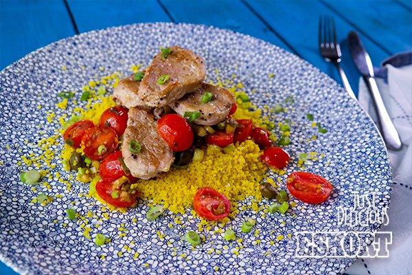 Pork Tomato & Caper Couscous