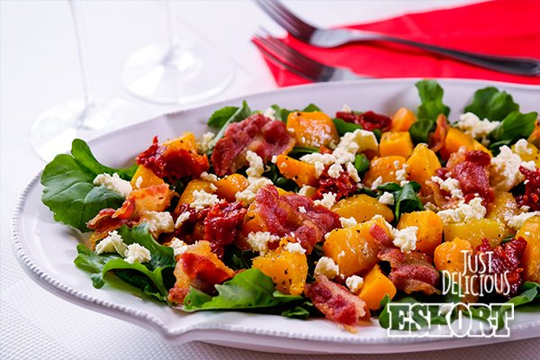 Pumpkin, Bacon & Tomato Salad