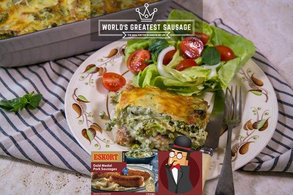 Pea & Pesto Sausage Lasagna