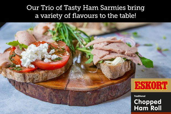 Eskort -  Trio of Tasty Ham Sarmies