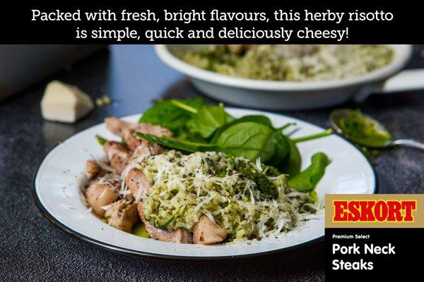 Herb Pesto & Pork Steak Risotto