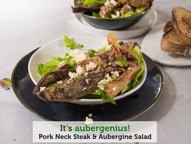 Pork Neck Steak & Aubergine Salad